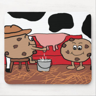 Milkin' Cookies Milk and Cookies Design Mouse Pad