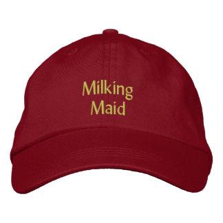 Milking Maid Cap / Hat Embroidered Cap
