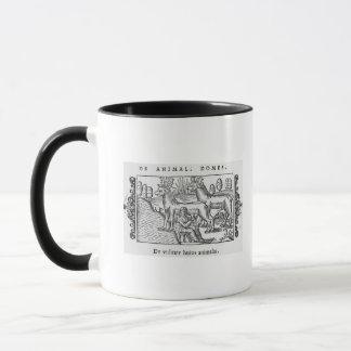 Milking reindeers mug