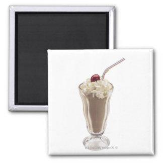 Milkshake Square Magnet