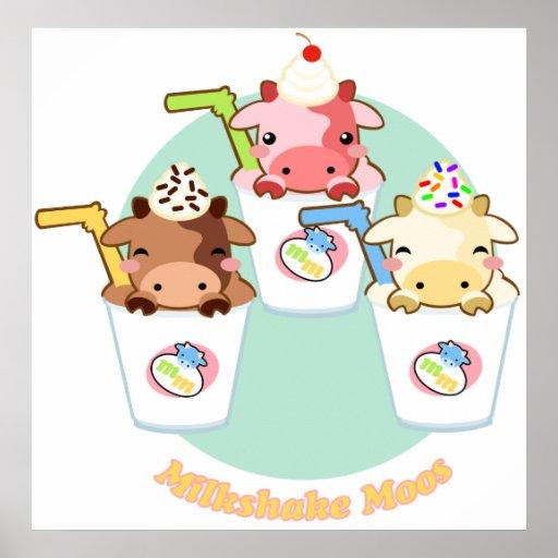 Milkshake Moos Poster