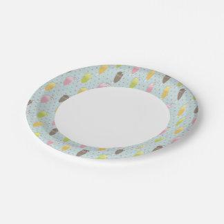 Milkshake Pattern 7 Inch Paper Plate