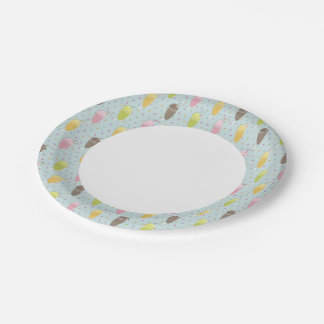 Milkshake Pattern Paper Plate