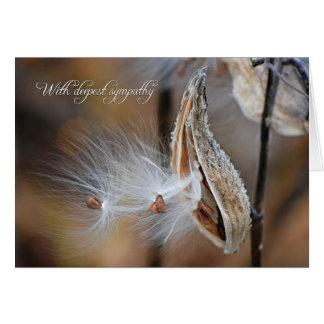 Milkweed Sympathy Greeting Card
