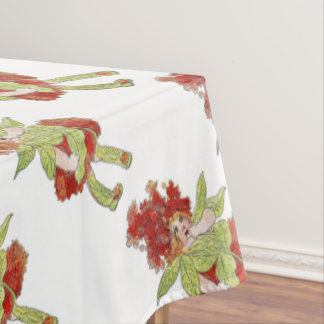Milkweed Vintage Cute Flower Child Little Girl Kid Tablecloth