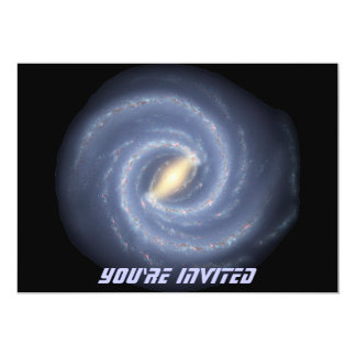 Milky Way Galaxy 5x7 Paper Invitation Card