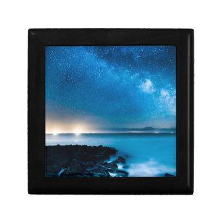 Milky Way Galaxy Over Fishing Boats Gift Box