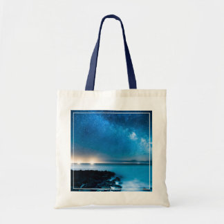 Milky Way Galaxy Over Fishing Boats Tote Bag