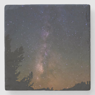 Milky Way night sky, California Stone Coaster