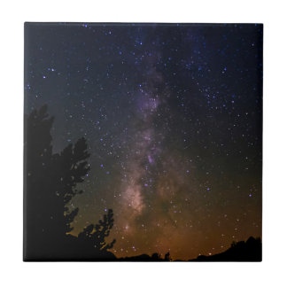 Milky Way night sky, California Tile