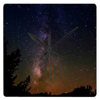 Milky Way night sky, California Wall Clock
