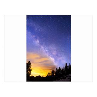 Milky Way Night to Day Postcard
