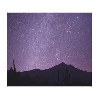 Milky Way over Arizona with Gemini, Taurus & Orion Canvas Print