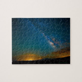 Milky Way over Taos, New Mexico Jigsaw Puzzle