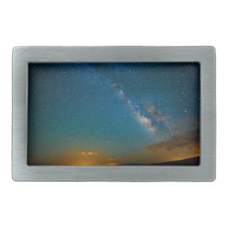 Milky Way over Taos, New Mexico Rectangular Belt Buckle