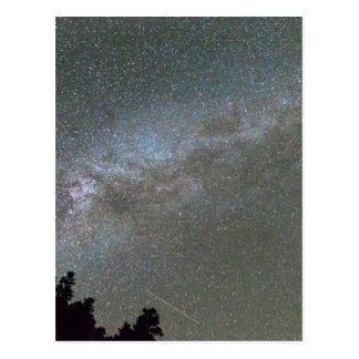 Milky Way Perseid Meteor Shower Postcard