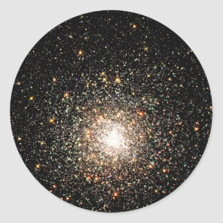 Milky Way Star Cluster Round Sticker