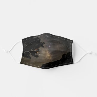 Milky Way Trees Cloth Face Mask