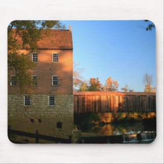 Mill and Covered Bridge Mouse Pad