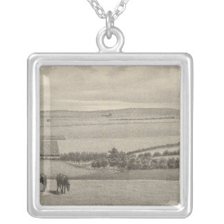 Mill Brae Ranch, Kansas Silver Plated Necklace