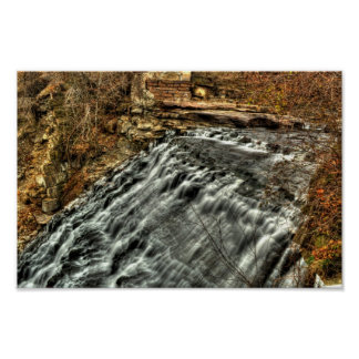 Mill Creek Falls, Cleveland, Ohio Poster