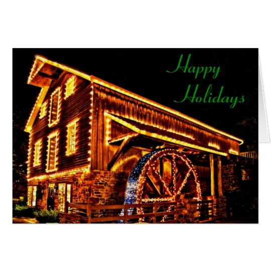 Mill in Lights Holiday Card
