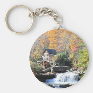 Mill in the woods key ring