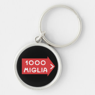 Mille Miglia Silver-Colored Round Key Ring