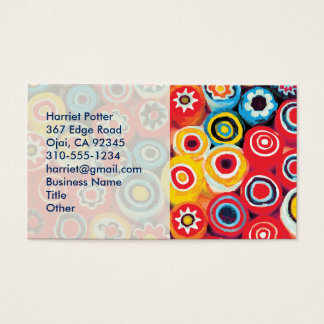 Millefiori Fine Abstract Floral Business Card