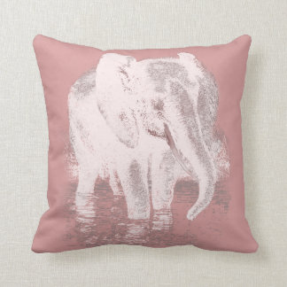 MILLENIAL PINK Pillow with Elephant