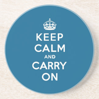 Millenium Blue Keep Calm and Carry On Coasters