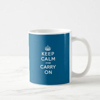 Millenium Blue Keep Calm and Carry On Mug