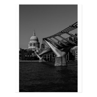 Millenium Bridge and St Pauls Cathedral Postcard