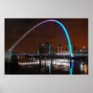 Millenium Bridge, Gateshead Poster