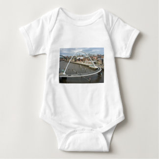 Millenium Bridge Newcastle England Creepers Baby Bodysuit