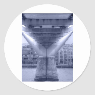 Millenium Bridge Round Sticker