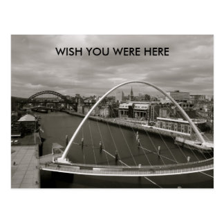 Millenium Bridge  WISH YOU WERE HERE Postcard