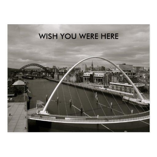 Millenium Bridge  WISH YOU WERE HERE Postcard