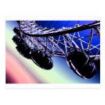 millenium wheel  London digital art Postcards