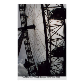 Millenium Wheel - London Poster