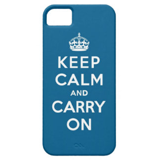 Millennium Blue Keep Calm and Carry On iPhone 5 Covers