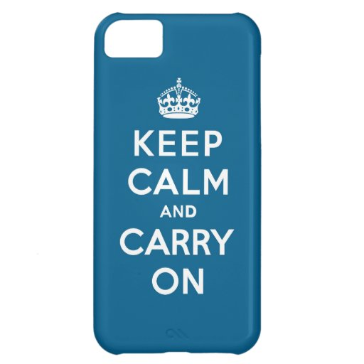 Millennium Blue Keep Calm and Carry On iPhone 5C Cover