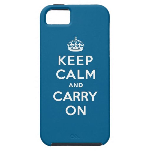 Millennium Blue Keep Calm and Carry On iPhone 5 Cover