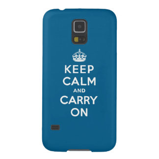 Millennium Blue Keep Calm and Carry On Samsung Galaxy Nexus Cases