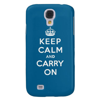 Millennium Blue Keep Calm and Carry On HTC Vivid Cover