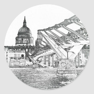 Millennium Bridge and St Paul's Stickers