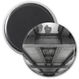 Millennium Bridge BW 6 Cm Round Magnet