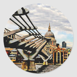 Millennium Bridge Classic Round Sticker