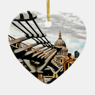 Millennium Bridge - London Christmas Ornament
