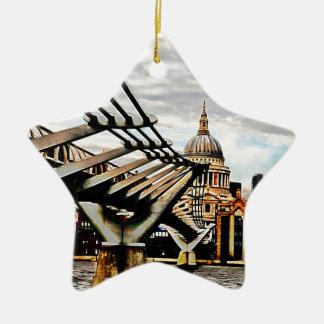 Millennium Bridge - London Christmas Ornament